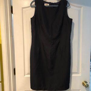 Talbots Navy Blue Silk Dress Sz 16